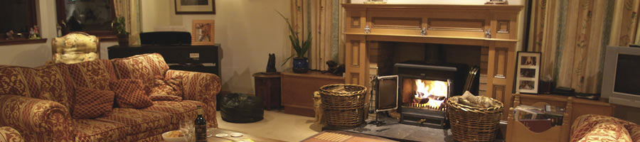 Enjoy a wood burning stove for those cooler days and evenings